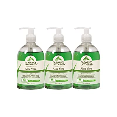 Clearly Natural Aloe Vera Liquid Hand Soap, Pack of 3, 12-Ounces Each