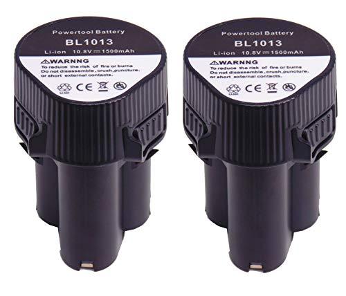 FengWings 2PCS 10.8V 1500mAh BL1013 Reemplace la batería de la herramienta por Makita Lithiumionen BL1013 194550-6 194551-4