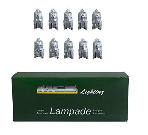 Melchioni 322199955 Lampe 12 V 10 W Halogène W2.1 x 9.5d, Lot de 10