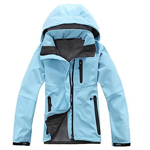 Regenjas voor dames, waterdicht, ademend, met capuchon, softshell jas voor dames, regenjas voor dames, waterdicht…