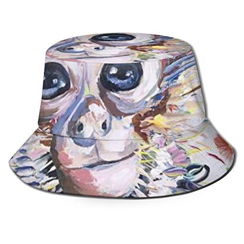 Sombrero de sol colorido de mono animal para hombres y mujeres, protección UV, camping, verano, flexible, duradero para adolescentes