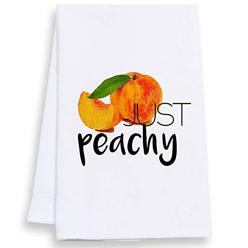 AOUYOA Personaliy Towel Custom Wedding Customized Bridal Shower Home Decor Anniversary for Couple (Peach Fruit)