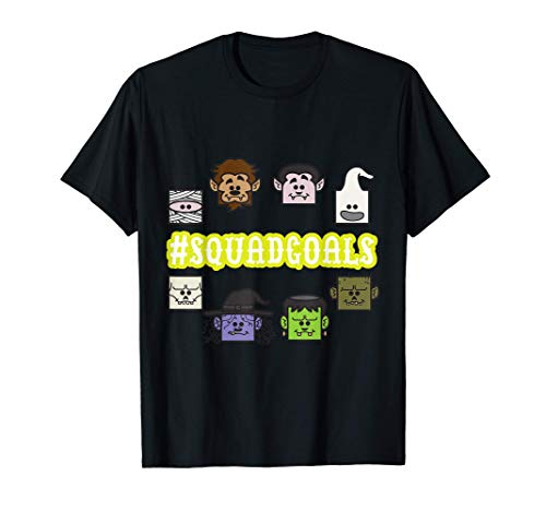 SQUAD Monster Characters Gaming Halloween Gamer Gifts Camiseta