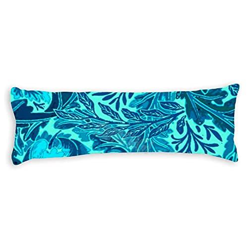 Tamengi William Morris - Fundas de almohada con doble cara, color azul y turquesa