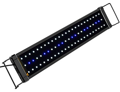 NICREW ClassicLED Aquarium Beleuchtung, Aquarium LED Lampe mit Mondlicht, LED Licht für Süßwasser-Aquarien, 53-83 cm, 11 Watt, 7.000K