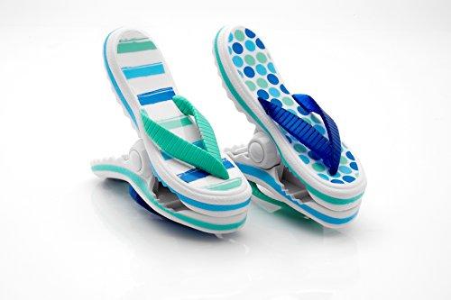 "Strandtuch Clips ""Boca"" Heringe-Flip Flops-Blaue Streifen"