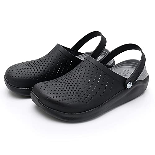 NISHIWOD Zapatillas Casa Chanclas Sandalias Sandalias De Mujer para Deportes De Playa, Zapatos Sin Cordones para Mujer, Zapatillas para Mujer, Zuecos para Hombre, Sandalias De Agua 41 Gris Oscuro