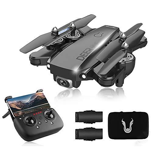 SLCE Drohne Mit 4K HD Kamera 5G WiFi 1.5Km Live Übertragung Und GPS, RC Quadrocopter Ferngesteuert Mit 120° Weitwinkel Kamera, Handy Steuerung, Follow Me, Coming Home Für Anfänger,Schwarz