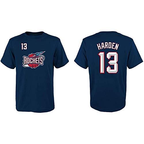T-Shirt NBA Houston Rockets 13# James Harden Retro Maniche Corte Abbigliamento Casual, Sciolto Traspirante Girocollo Pallacanestro Jersey, Adatto A Sport E Tempo Libero All'aperto,M