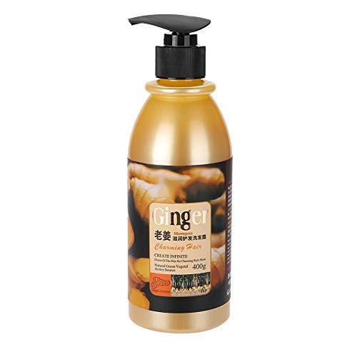 Champú para el cuidado del cabello de 400 ml, champú para el cabello de jengibre, champú para el cabello limpiador anticaída para hombres y mujeres