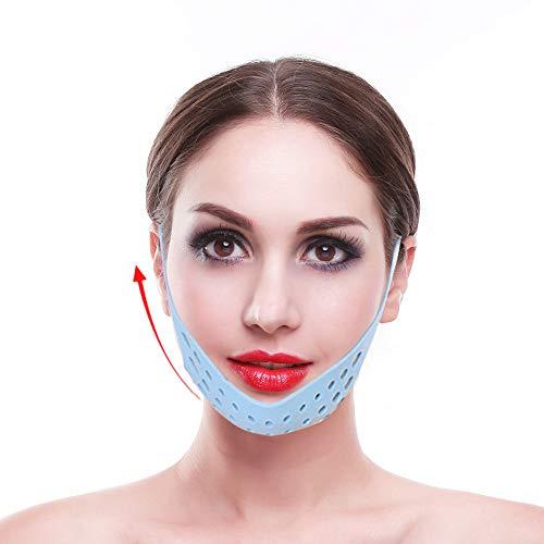 Linea V Maschera Rassodante Lifting, Contorno Viso a Forma di V Cintura Viso Sottile Dimagrante, Assistenza Sanitaria Cintura Facciale Fasciatura Maschera per il Mento