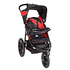 Large bicycle tires roll effortlessly over all surfaces Accepts all Baby Trend infant car seat models Front Swivel Wheel for easy maneuvering, locks for jogging Reclining Padded Seat with 5 point harness, tether, large canopy and storage basket Easy ...