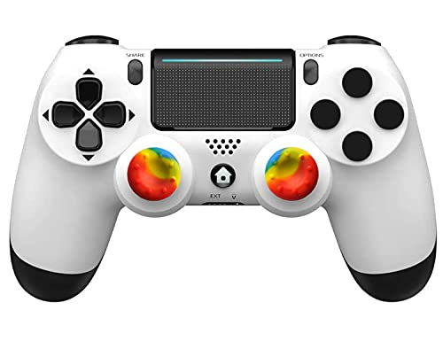 Mando para PS4, Mando inalámbrico Gamepad Vibración Dual Conector para Auriculares Sensor de Seis Ejes, para PS4 Pro Slim