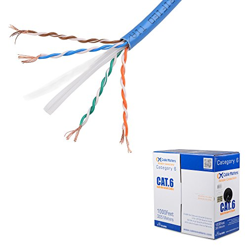 : Cable Matters In-Wall Rated (CM) Cat6 Stranded Ethernet Cable in Blue 1000 Feet