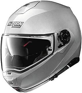 Nolan N100-5 Motorcycle Helmet Platinum Silver Large