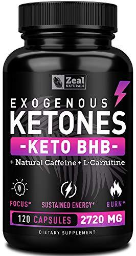 Keto BHB Exogenous Ketones Pills (2720mg | 120 Capsules) Keto Pills w. goBHB Salts, Natural Caffeine & L-Carnitine - Keto BHB Oil Capsules Beta Hydroxybutyrate for Weight Loss Keto Vitamins Keto Salts