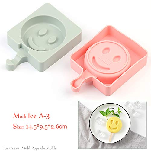 Coner Silicone Ice Cream Mold Popsicle Mallen Frozen Ice Mold met Popsicle Sticks Homemade Freezer Ice Lolly Mold, Ice A -3