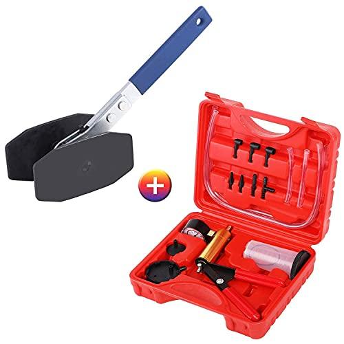 JIFETOR Hand Vacuum Pump Turner Tester and Brake Clutch Bleeder Tool Kit Brake Caliper Press Tool