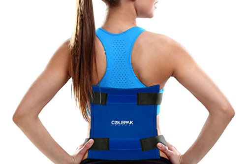 Large Reusable Gel Ice Pack with Ice Wrap by ColePak Comfort - Oversize XL Hot Cold Therapy Pack to Wrap Around Knee, Back, Shoulder, Hip for Full Mobility (Blue Pack: 15.7x 11.8)