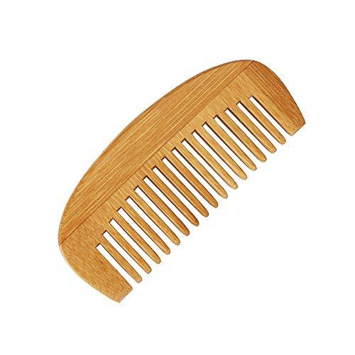 1 PZ Naturale Bambù Pettine Massaggio Del Cuoio Capelluto Di Legno Antistatico Uomo Barba Pettine Modellazione Capelli Pettine Mass