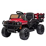 VALUE BOX Ride on Truck with Trailer, 2.4G Remote Control 12v Battery Electric Kids Toddler...