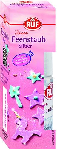 RUF Feenstaub silber Dekoglitter Pumpspray für einen glänzenden Silberhauch , 1 x 10 g