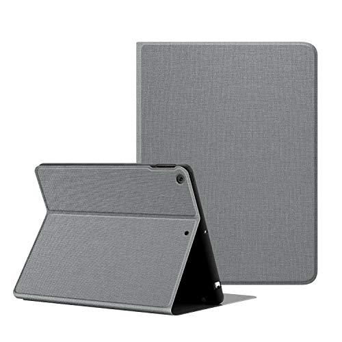 OLAIKE Funda de Tela para iPad 8th Gen 2020 y iPad 7th Gen 2019 - Funda iPad 10.2 con portalápices, Funda con Soporte de múltiples ángulos con función de Reposo/activación automática,Gris