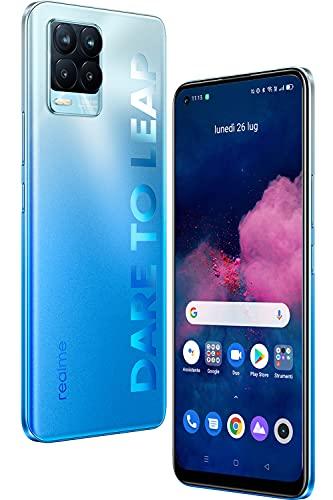 realme 8 Pro Smartphone 8+128GB, Processore Qualcomm Snapdragon 720G, Ultra Quad Fotocamera da 108MP, Display Super AMOLED da 6,4 inch, Ricarica SuperDart da 50W, 4500mAh, Dual Sim, NFC, Blu Infinito