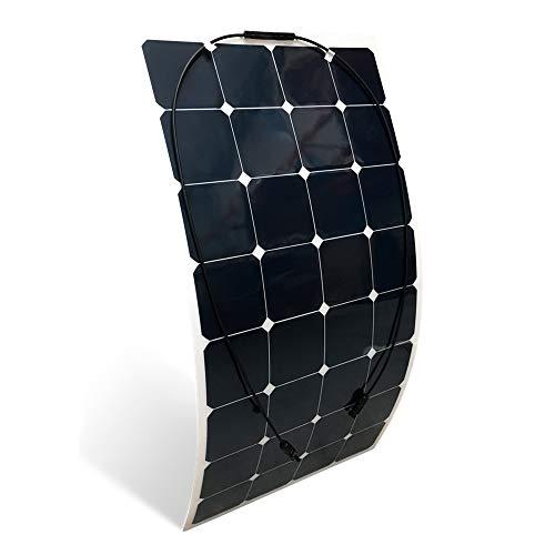 pannello solare flessibile, 150W, monocristallino, con rivestimento in ETFE, 12V, per Barca, Cabina, tende da campeggio, Auto, rimorchi e caravan