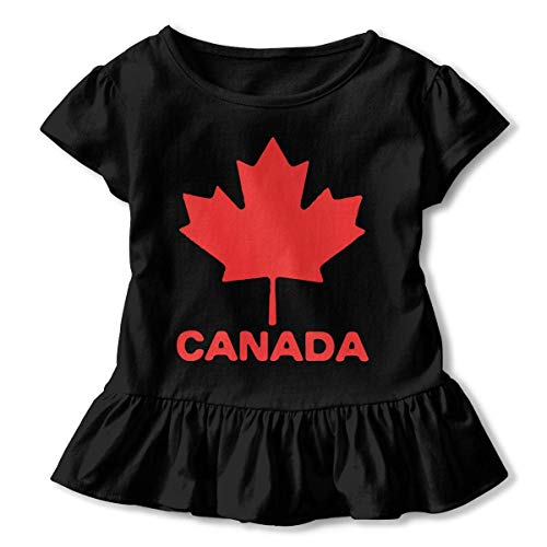 Moose Maple Leaf Girls Cotton,Long Sleeve Baby Romper