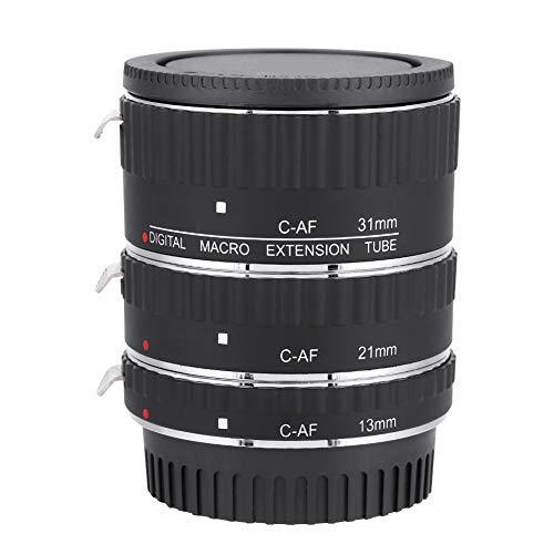 Obiettivo Adattatore Macro, ingrandimenti Multipli, Messa a Fuoco Automatica Meike, Set di Anelli Adattatore per Obiettivo Macro, per Canon EF EF-S Mount DSLR (Lega)(A)