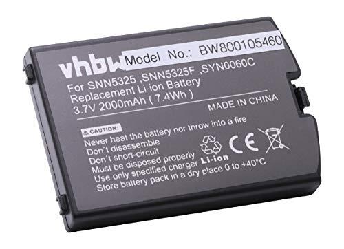 vhbw Li-Ion Akku 2000mAh (3.7V) für Smartphone, Handy, Handy Satellitentelefon Iridium 9500, 9505 wie SNN5325, SNN5325F, SYN0060C.