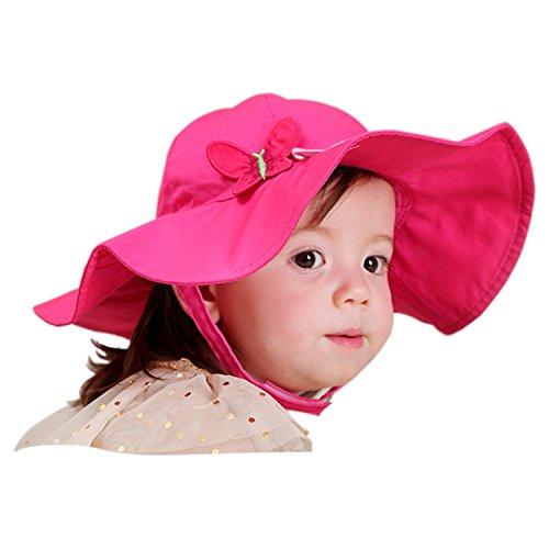 Snyemio Cappello da Sole Bambina Cotone Interno Bucket Hat con Sottogola