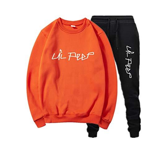 Lil Peep Hoodie Mens Unisex Hip Pop Sudadera para Hombres Mujeres Teen Hoodie Lil Peep Navy Sweatshirt Kid XL