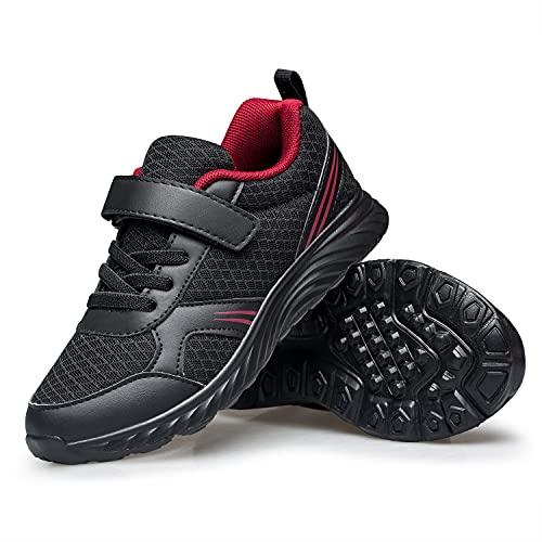 Kinder Turnschuhe Kleinkind Jungen Mädchen Leichte Laufschuhe Atmungsaktiv Schulschuhe Kinder Outdoor Sneakers, Schwarz - allblack - Größe: 24 EU