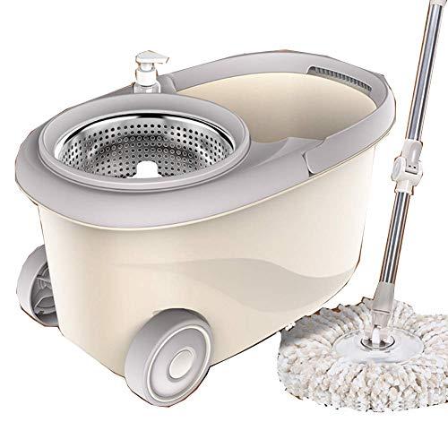 Trapeador Giratorio para el hogar Doble accionamiento Perezoso Exprimidor automático Mop y seco Cubo de trapeador de Doble Uso
