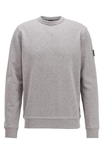 BOSS Herren Walkup 1 Sweatshirt aus Baumwoll-Terry mit Logo am Ärmel