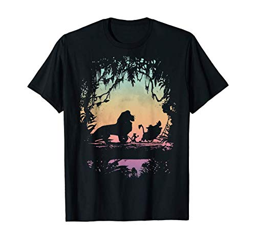 NR Komanbo T-shirt leeuw King Best Friend Trio Colorful Sunset Silhouette