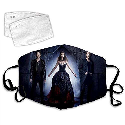 Face Cover 3D Vampire Diaries Poster Anti-Dust Thanksgiving Cloth Windproof Cover Adjustable Elastic Strap-Vampire Diaries