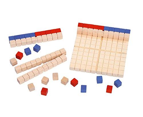 Betzold 86485 - Dienes-Material Mathematik-Dezimalsatz Zahlenraum 100 - Dezimal-Würfel Mathe Grundschule Rechnen Lernen