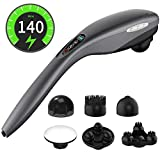 Handheld Massager-Cordless Electric Hand held Deep Tissue Massager for Neck and Back Muscle Shoulder Foot Leg Full Body Massage Pain Relief