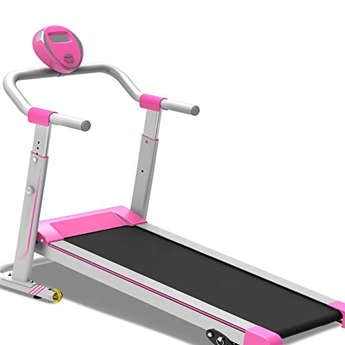 Lwieui Motorisierte elektrische Laufband Folding Laufband Maschine laufende Maschine ideal for den Heimgebrauch Laufband (Farbe : Pink, Size : 122x62x124cm)