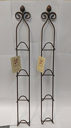 Manual Woodworkers and Weavers Metal Vertical Plate Racks, Mini, Rust Colored, Set of 2