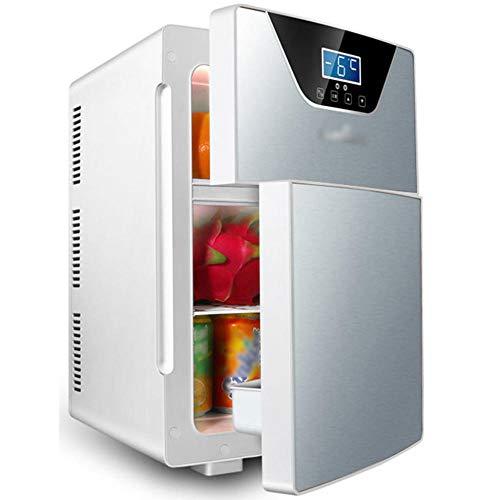 Refrigerador portátil del coche, Dormitorio Mini refrigerador, nevera caliente y fría de dos propósitos de dos propósitos, AC/DC, 12V / 220V-plata_20l