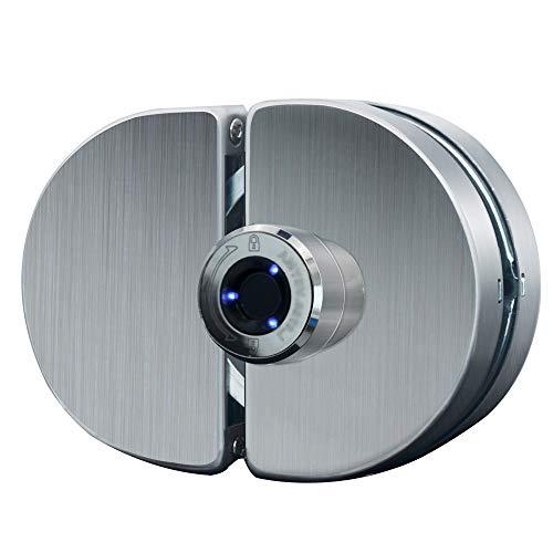 Smart Fingerabdruck-Glas-Türschloss, Glas Doppeltüren Smart Fingerprint Türschloss Home Hotel Büro Bad Verwenden