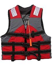 Hoge kwaliteit volwassen kinderen reddingsvest met fluitje drijfvest draagbare zwemvest watersport jas