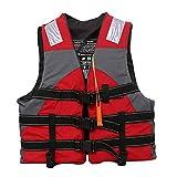 N-B Giubbotto di Salvataggio per Bambini Adulti di Alta qualità con Giubbotto di galleggiamento a Fischietto Giubbotto da Nuoto Portatile per Sport Acquatici