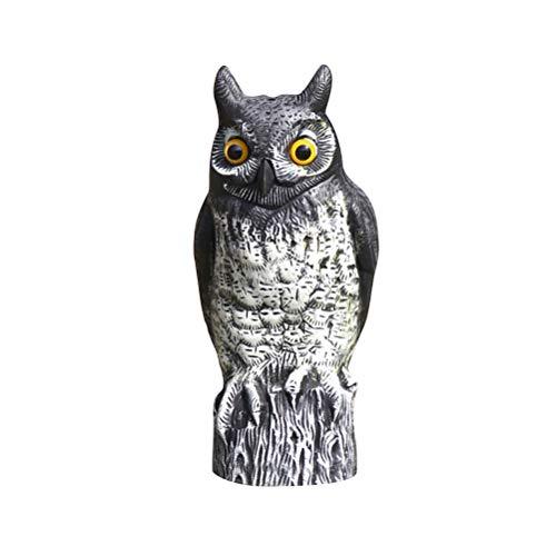 VOSAREA Kunststoff Eule Realistische Eule Gartenfigur Eule Figur Eule Modell Vogelscheuche Garten Deko