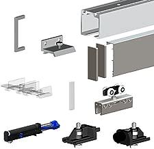 Häfele Schiebetürbeschlag Antik Holztüren Schiebetür-System 2000 mm schwarz
