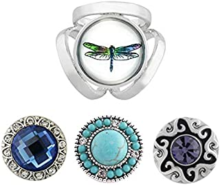 Dragonfly Snap Charm Interchangeable Jewelry Scarf Holder Standard Size Snaps Includes All Snaps Shown